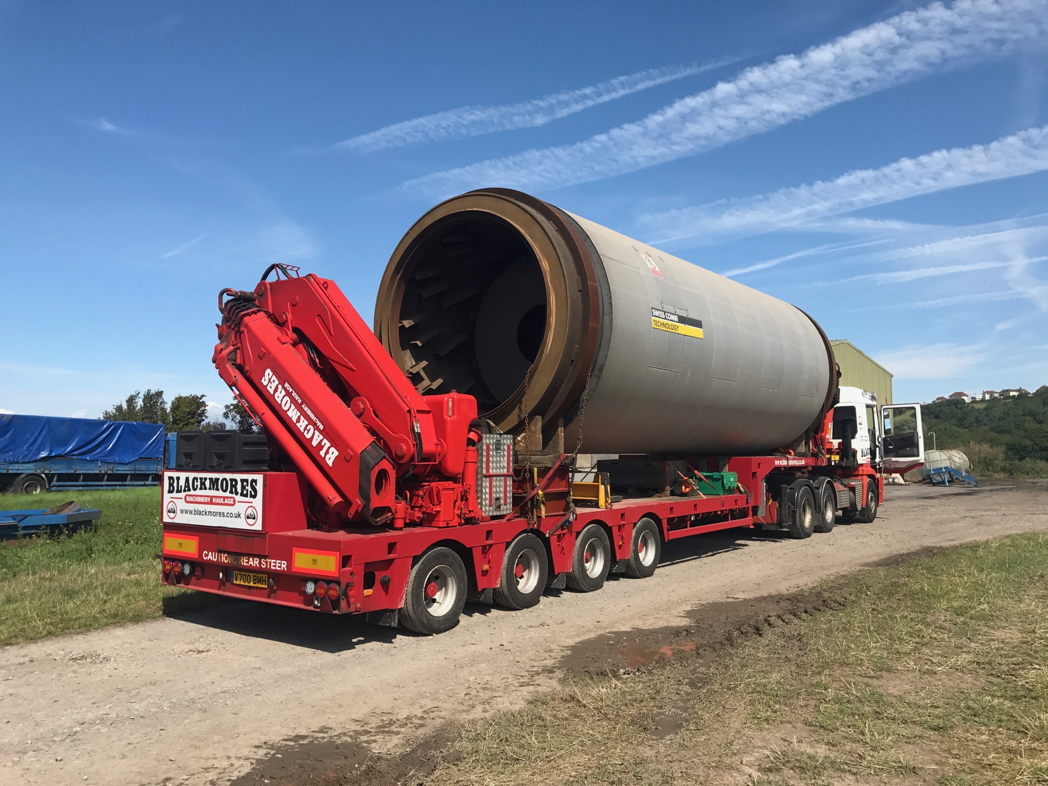 Truck Trailer Carrying A Large Load