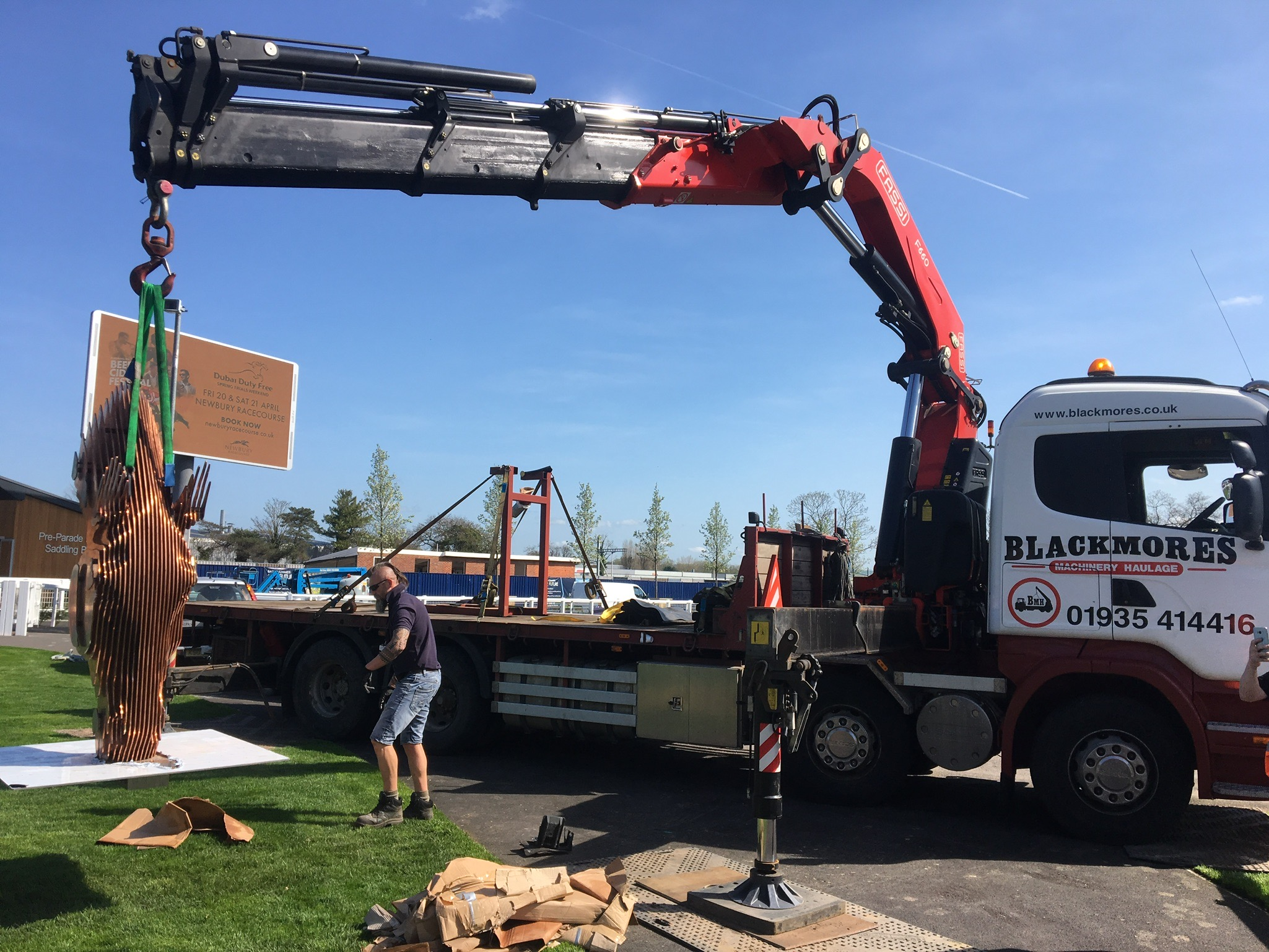 Crane Lifting Heavy Object